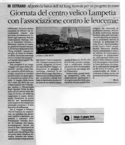 Giornata del centro velico Lampetia con l'associazione contro le leucemie