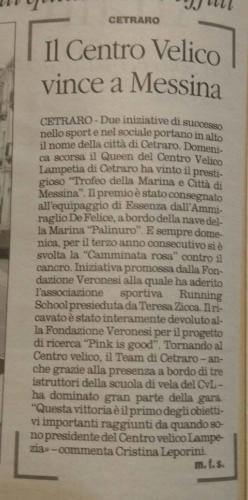 Il Centro Velico vince a Messina