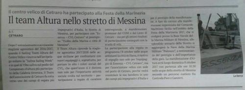 Il team Altura nello stretto di Messina