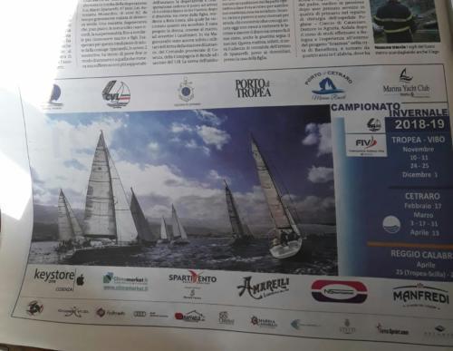 La Gazzetta del Sud mette in risalto il campionato di vela d'altura regionale in programma dal 10 novembre al 27 aprile