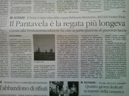 Pantavela, la regata più longeva della Calabria