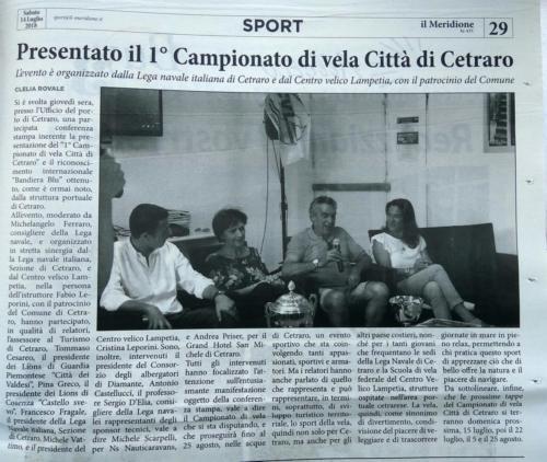 Presentato il 1 campionato di vela Città di Cetraro